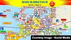 Карта велопробега