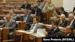 Skupština na glasanju o izbornom zakonu, septembar 2011.