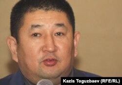 "Габиден Жакей, лидер движения ""Улы Дала"". Алматы, 15 декабря 2012 года."