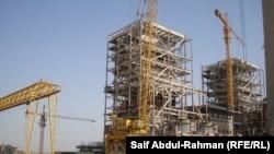محطة كهرباء الزبيدية قيد الانشاء في الكوت