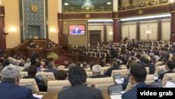 Парламент палаталарының бірлескен отырысы. Астана, 6 наурыз 2017 жыл.