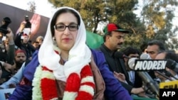 Pakistani former Prime Minister Benazir Bhutto in Rawalpindi on December 27, 2007.