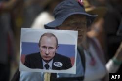 Протесты против российского вмешательства в американские выборы. Лос-Анджелес, 2 июля