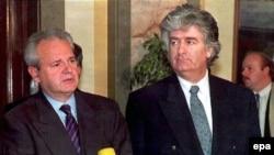 Slobodan Milošević i Radovan Karadžić