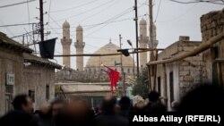 Ашура - церемония поминовения Имама Гусейна в поселке Нардаран близ Баку. 25 ноября 2012