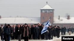 هیات پارلمان اسرائیل در مراسم روز قربانیان «هولوکاست» در آشویتس، لهستان
