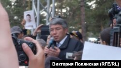 Алексей Цыденов на митинге 15 сентября 2019 года