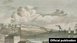 """Vedere a Odesei la 1839, gravură (Foto: François-David Noir, """"Journal de voyage"""")"""