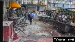 Snimka tržnice nakon masakra
