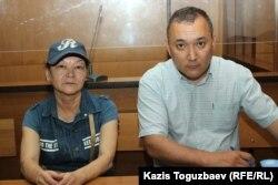 51 жастағы Гүлзипа Жаукерова жәның оның адвокаты Марат Ахметжанов. 4 шілде 2091 жыл.