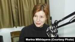 Қазақстандық журналист Марина Михтаева.