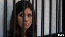 """Pjesëtarja e """"Pussy Riot"""", Nadezhda Tolokonnikova,"""