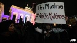 جانب من تظاهرة إسلامية في برلين تدعو الى التسامح