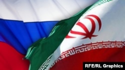 Ռուսաստանի և Իրանի դրոշները