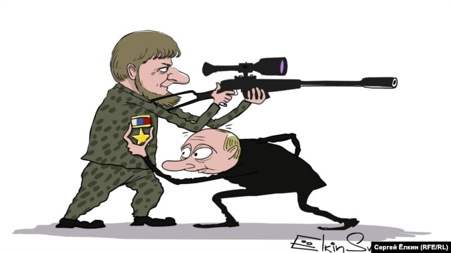 Putin's willing executioner (cartoon by Sergei Elkin, RFE/RL)