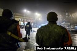 Ночной Донецк. Февраль 2016 года