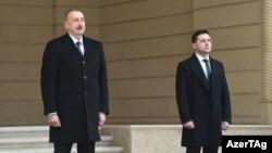 Ադրբեջանի նախագահ Իլհամ Ալիևն ընդունում է Ուկրաինայի նախագահ Իլհամ Ալիևին, Բաքու, 17-ը դեկտեմբերի, 2019թ․