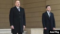 Ukrayna Prezidenti V.Zelenskinin rəsmi qarşılanma mərasimi