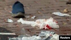 На месте атаки на мечеть в Новой Зеландии.