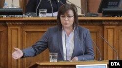 Корнелия Нинова по време на дебата преди избора на Цацаров за шеф на КПКОНПИ