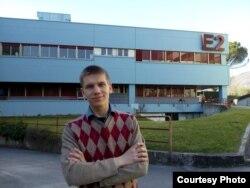 Дмитро Ільницький біля університету в Салерно (фото з особистого архіву)