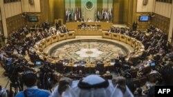 نمایی عمومی از سالن نشستهای اتحادیه عرب