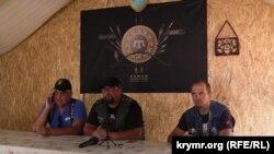 Участники мотопробега единства Украины и Крыма