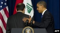 Американскиот претседател Барак Обама и ирачкиот премиер Нури ал Малики.