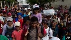 Migranți din Honduras în drum spre Statele Unite