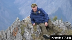 Russian President Vladimir Putin is shown spending his vacation in the Siberian taiga on October 7.
