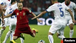 Испания-Чили матчы. Рио-де-Жанейро, 18 маусым 2014 жыл.