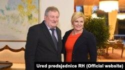 Mirko Rašković sa predsjednicom Hrvatske Kolindom Grabar Kitarović