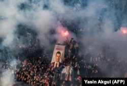 Митинг активистов РНП в Стамбуле. 17 апреля 2019 года