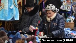 La piață la Strășeni