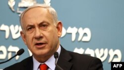 "Israeli Prime Minister Benjamin Netanyahu: ""The international community is not laying down a clear red line for Iran."""