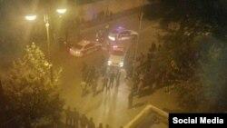 Азербайджанская полиция и верующие-активисты. Баку, 5 ноября 2015 года.