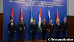Таджикистан - Участники саммита ОДКБ в душанбе, 15 сентября 2015 г.