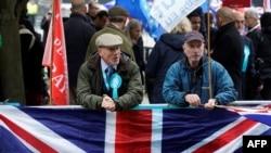 Pristalice Brexita na protestu u Londonu