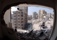 A view of the destruction wreaked in a suburb in southern Beirut by Israeli air strikes (epa)