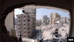 Южный Бейрут в руинах