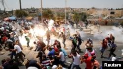 Israil -Qüdsün qədim hissəsində fələstinlilərə qarşı gözyaşardıcı qaz istifadə edilir. 21 iyul