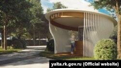 Проект реконструкції Піонерського парку, представлений російською владою Ялти