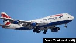 British Airways ұшағы. Көрнекі сурет.