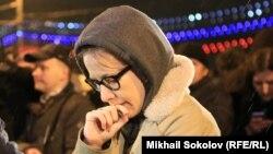 Ксения Собчак на месте убийства Бориса Немцова