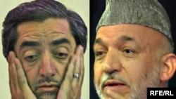 حامد کرزی و عبدالله عبدالله، دو رقیب انتخابات ریاست جمهوری افغانستان