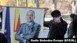 Поддржувачи на Љубе Бошкоски пред судот.