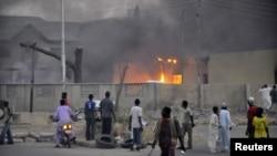 После взрыва на полицейском участке в Кано. 20 января 2012 г.