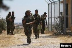 «نیروهای دمکراتیک سوریه» در نزدیکی منبج در استان حلب
