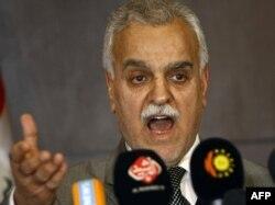 الهاشمي في مؤتمر صحفي بأربيل