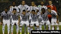 Azerbaijan -- Neftchi-Partizan, UEFA-Euro League play-off, Baku, 28Aug2014